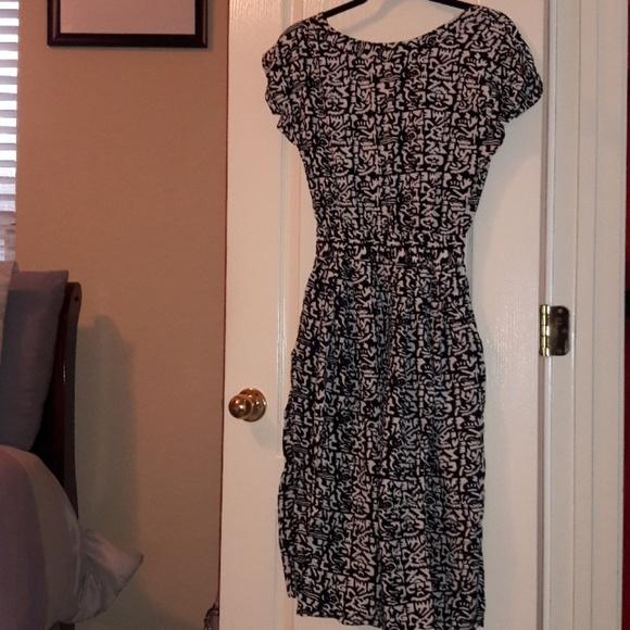 Passport Dresses & Skirts - Black & White Designed Maxi Dress